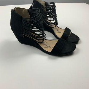 American Rag Strappy Demi Wedge Sandal Zipper 6